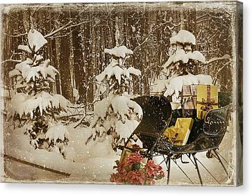 Christmas Delivery Canvas Print by Maria Dryfhout