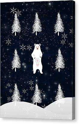 Christmas Eve Bear Canvas Print