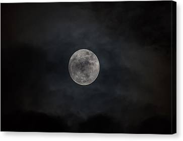 Christmas Eve Full Moon 2015 Canvas Print