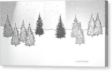 Nature Scene Canvas Print - Christmas Eve by Lenore Senior
