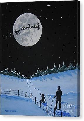 Christmas Eve Stroll Canvas Print