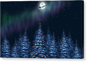 Christmas Eve Canvas Print - Christmas Eve by Veronica Minozzi