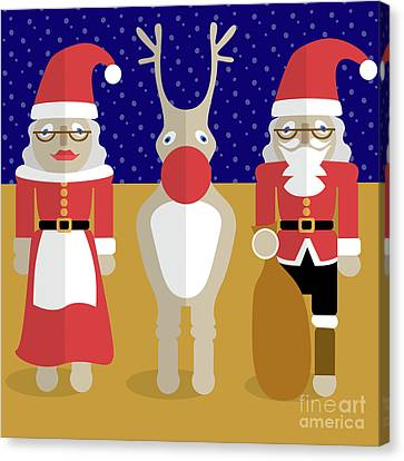 Father Christmas Canvas Print - Christmas Family  by Claire Huntley