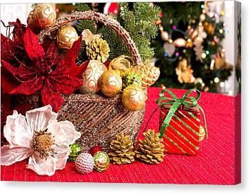 Christmas Greetings  Canvas Print by Marina Kojukhova