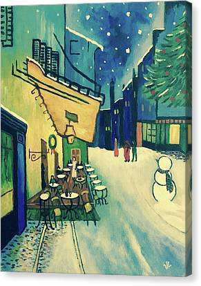 Christmas Homage To Vangogh Canvas Print