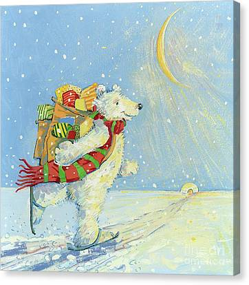 Christmas Cards Canvas Print - Christmas Homecoming by David Cooke
