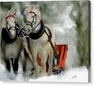Christmas Horses 2016 Canvas Print
