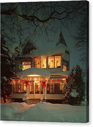 Christmas House Canvas Print