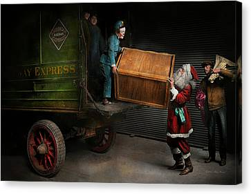 Christmas - How Santa Ruined Christmas 1924 Canvas Print by Mike Savad