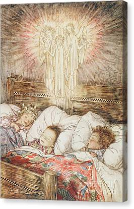 Christmas Illustrations From The Night Before Christmas Canvas Print by Arthur Rackham