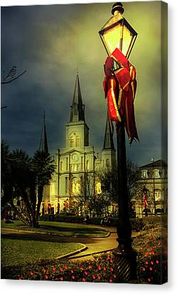 Christmas In Jackson Square Canvas Print