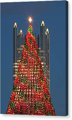 Canvas Print featuring the photograph Christmas In Pittsburgh 2016  by Emmanuel Panagiotakis