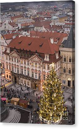 Christmas In Prague Canvas Print by Juli Scalzi