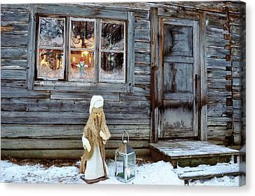 christmas in Scandinavia Canvas Print by Tamara Sushko