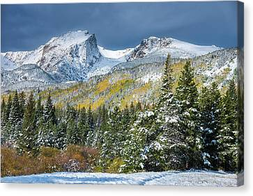 Canvas Print featuring the photograph Christmas In The Rockies by Darren White