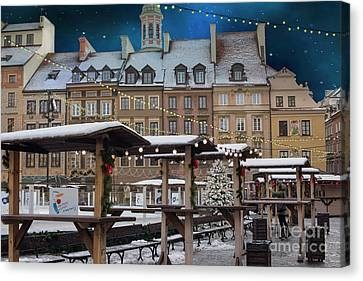 Canvas Print featuring the photograph Christmas In Warsaw by Juli Scalzi