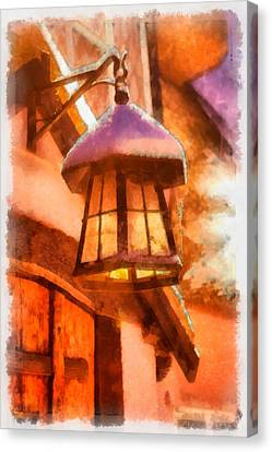 Christmas Lamp Canvas Print by Esoterica Art Agency