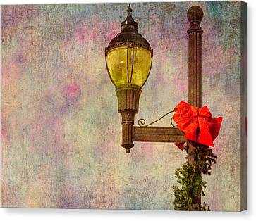 Christmas Lamp Post Canvas Print by Phillip Burrow