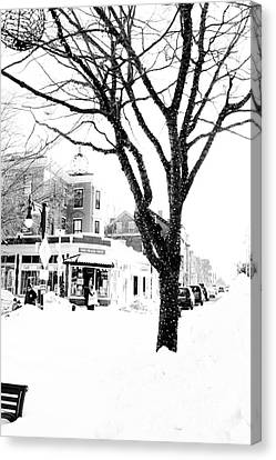 New England Canvas Print - Christmas Lights In Longfellow Square by Victory  Designs