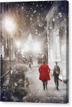 Christmas Lights Canvas Print by Pixel Chimp
