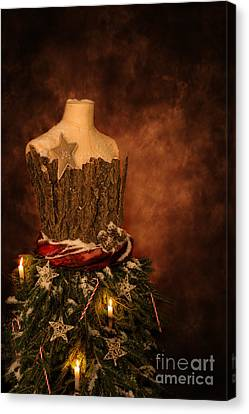 Christmas Mannequin Canvas Print by Amanda Elwell