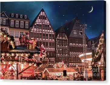 Deutschland Canvas Print - Christmas Market by Juli Scalzi