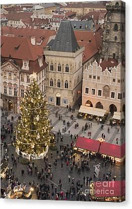 Christmas Market. Prague Canvas Print by Juli Scalzi