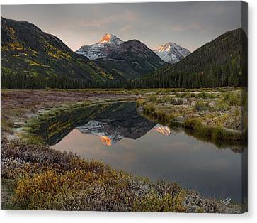 Reflecting Water Canvas Print - Christmas Meadows Autumn by Leland D Howard