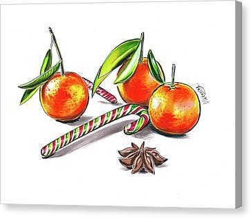 Christmas Mood Canvas Print by Viktoriya Lavtsevich