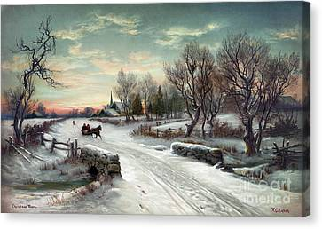 Christmas Morn, C1885 Canvas Print by Granger