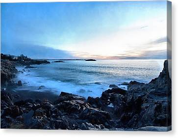 Christmas Morning Dawn At Castle Rock Marblehead Ma Canvas Print