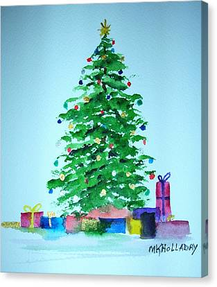 Christmas Morning Canvas Print by Mary Kay Holladay
