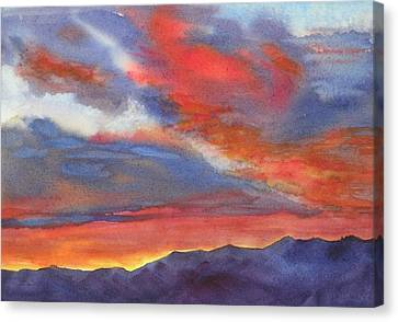Canvas Print featuring the painting Christmas Morning by Pat Crowther