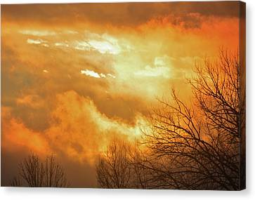 Canvas Print featuring the photograph Christmas Morning Sunrise by Diane Alexander