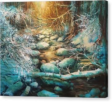 Christmas Morning Canvas Print by Tom Shropshire