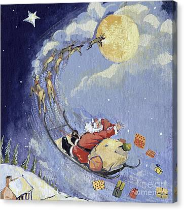Christmas Eve Canvas Print - Christmas Night by David Cooke
