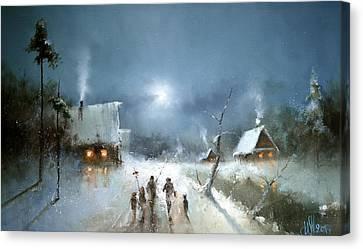 Christmas Night Canvas Print by Igor Medvedev