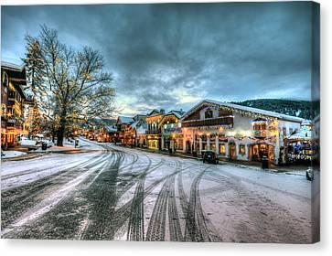 Christmas On Main Street Canvas Print by Brad Granger