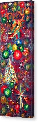 Christmas Orbs Canvas Print by Peter Bonk