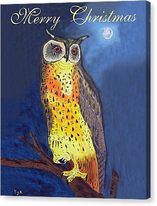 Christmas Owl Canvas Print by Eric Kempson
