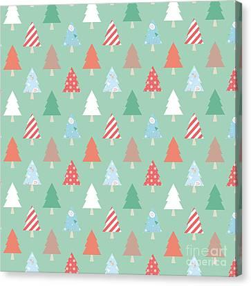 Christmas Pillow Canvas Print by Edward Fielding