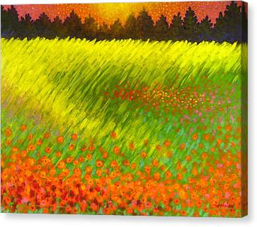 Christmas Poppies Canvas Print by John  Nolan