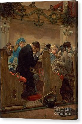Benches Canvas Print - Christmas Prayers by Henry Bacon
