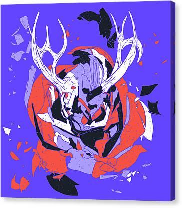 Christmas Reindeer, Well Sort Of Canvas Print