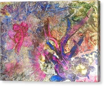 Christmas Ribbons Canvas Print by John Vandebrooke