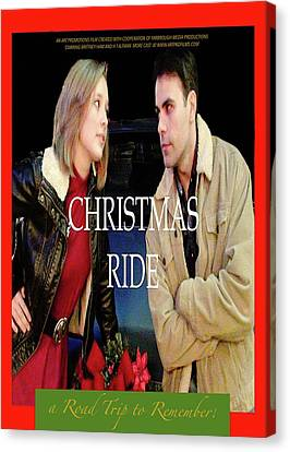 Christmas Ride Poster 16 Canvas Print by Karen Francis