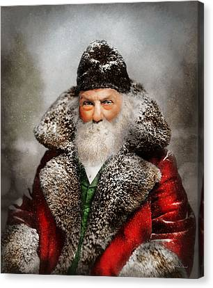Christmas - Santa - Saint Nicholas 1895 Canvas Print by Mike Savad