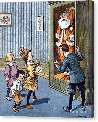 Christmas Secret Revealed, Puck Canvas Print