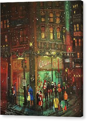 Christmas Shopping  Canvas Print