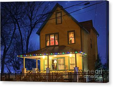 Christmas Story House Canvas Print